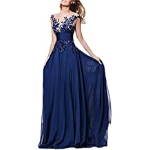 san francisco 3c350 ae26a BoBoLily Donna Vestiti Eleganti - Blu - Amazon.it