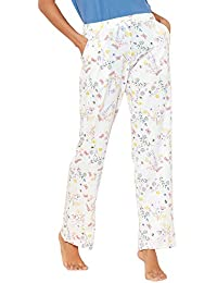785cccd6ca Lounge   Sleep Womens Cream Floral Butterfly Print Pyjama Bottoms
