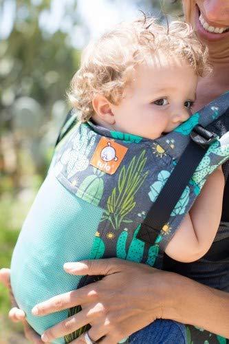 Marsupio ergonomico Tula Free-to-Grow Coast Cacti anteriore e posteriore sicuro dalla nascita al bambino con cappuccio 3,5-20 kg