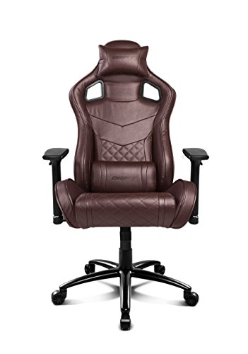 Drift DR450BW - Silla Gaming Profesional, (Poilipiel Alta Calidad, Ergonómica), Color Marrrón