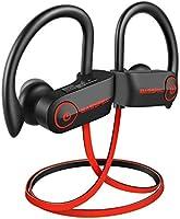 Cuffie Bluetooth, BassPal TonePro U14 Auricolari Sportivi Wireless Impermeabili IPX7 con Microfono, Bassi Ricchi HD Stereo Sweatproof Auricolari Auricolari per Palestra Esecuzione Allenamento 9 Ore Cuffie Auricolari con Cancellazione del Rumore
