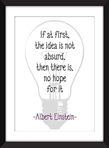 """Albert Einstein """"Ideen"""" Zitat Kunstdruck, 11 x 14/8 x 10/5 x 7 """"A3 / A4 / A5 Druck, Typografie Druck - 'Ideas'"""