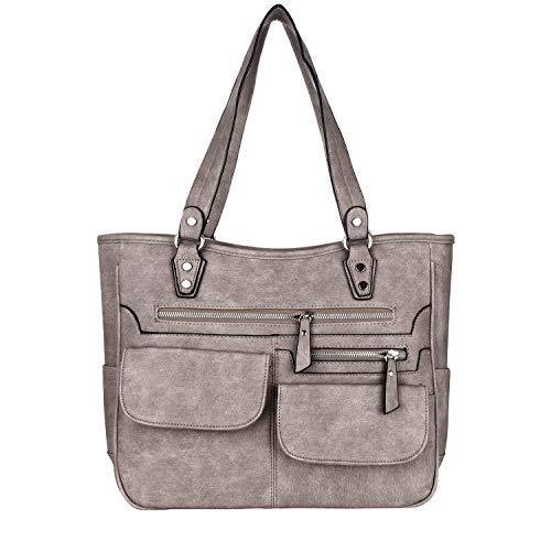 Yadelai Damen Shopper Handtasche,Frauen Umhängetasche Große Kapazität Weiche PU-Leder Tote Handtaschen, Multi-Tasche Laptop Reise Work Schulter Crossbody Tote Schultertasche für Frauen(Dunkelbraun)