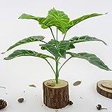 qganylO Plante Artificielle pour décoration de Maison de Mariage Vert 9 têtes, Vert, Taille Unique