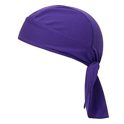 Lanchs Sport Outdoor Bandana, Cycling Motorcycle Running Adjustable Sweat Beanie Bandana Hat Headwrap, Quick-dry Sun UV Protection Cap Headgear for Men Women Helmet Liner by Lanchs