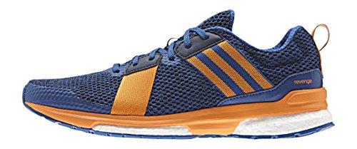 adidas Revenge M, Chaussures de Running Entrainement Homme, Noir Multicolore - Azul / Naranja / Negro (Eqtazu / Eqtnar / Maruni)