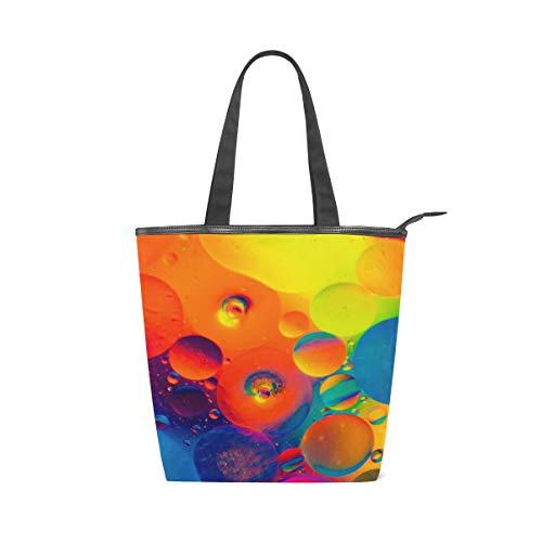 LAZEN Stilvolle Leinwand Tote Bag Handtasche 14 x 4,5 x 15 Zoll cute multicolor Aquarell
