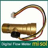 GOZAR Dc 5V De Cobre Del Calentador De Agua Sensor De Flujo Del Sensor