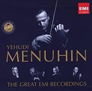 Yehudi Menuhin: The Great EMI Recordings Box set Edition by Menuhun, Yehudi (2009) Audio CD