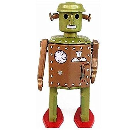 Lamdoo Retro Roboter mit Uhrwerk zum Aufziehen, Vintage Stil