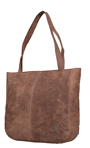 Handmade Tote Handtasche (J WILSON London Designer Echtes Leder Damen Schulter Shopper Tote Handtasche Buffalo Ausblenden Vintage Handmade Bag)