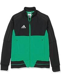 adidas BQ2613 Chaqueta, Niños, Negro/Verde/Blanco, 140 (9/10 años)