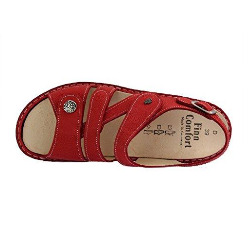 Finn Comfort Gomera, Sandali donna Rosso Indianred Longbeach 16 Rosso (indianred)