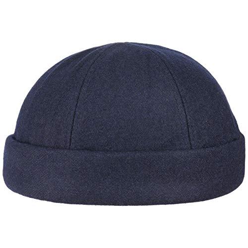 Lipodo Port Dockercap (Dockermütze) dunkel-blau | Wintermütze | Seemannsmütze in One Size | Mit Klettverschluss | Eng Anliegende Mütze | Winter