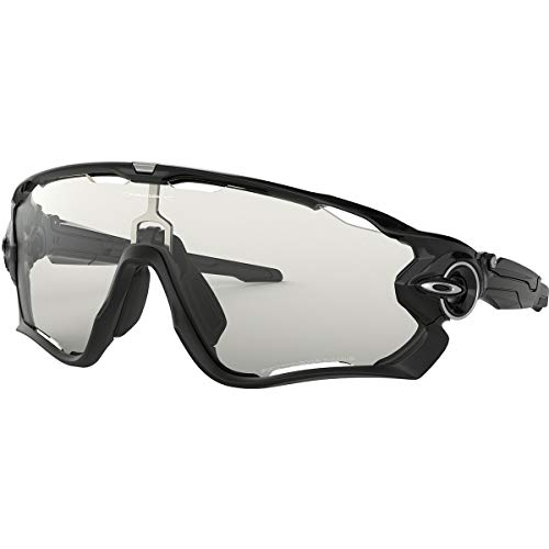 Oakley Sonnenbrille Jawbreaker Lunettes de sport, Polished Black/Clear Black Iridium Photocromatic, 40 Homme