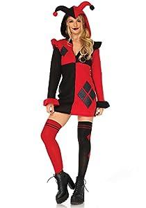 Leg Avenue- Mujer, Color Negro, Rojo, Medium (EUR 38-40) (LO85638)