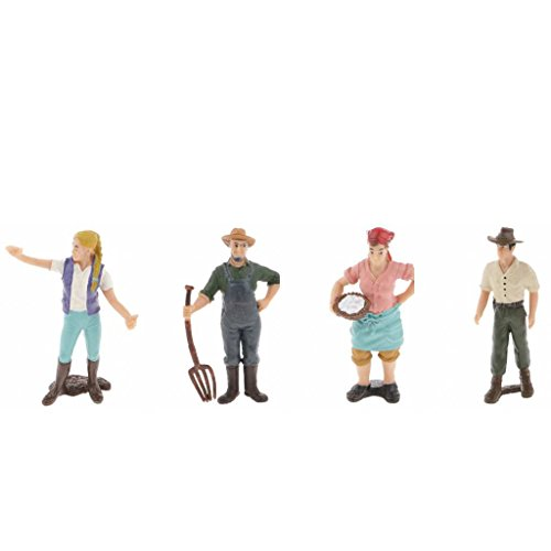 Sharplace 4 Pcs Realistische Spielfiguren - weibliche & männliche Bauer Figuren Modell