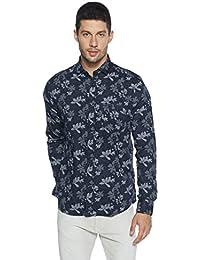 Easies Men's Printed Slim Fit Casual Shirt