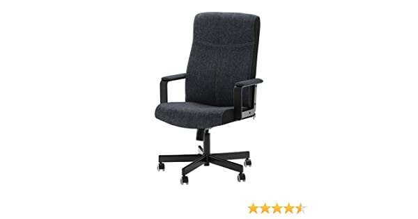 Miraculous Ikea Malkolm Swivel Chair Fabric Black Pabps2019 Chair Design Images Pabps2019Com
