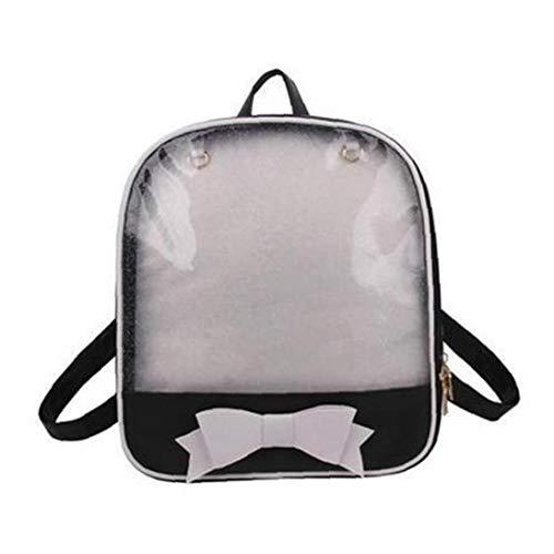 Netter Bow-Beutel Für Schüler Der Sekundarstufe Transparent Frauen Rucksack Mini Schulranzen Für Teenager Mode Bookbag