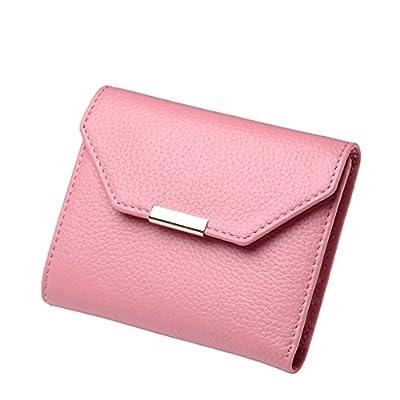 ZLR Mme portefeuille Nouveau Wallet Femme Short Section du Portefeuille en cuir à trois volets