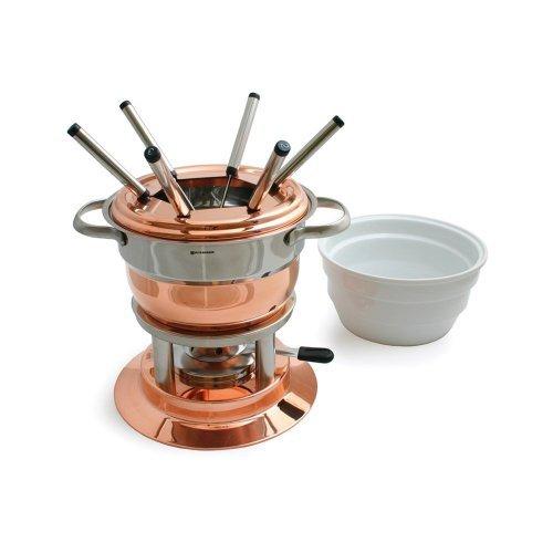 Swissmar Lausanne 11 Piece Copper Fondue Set by Swissmar