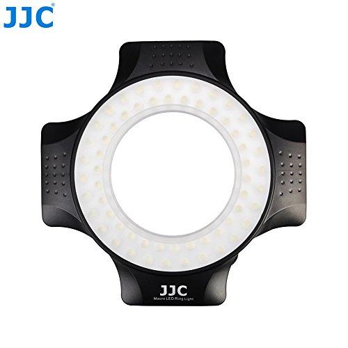 JJC Makro-LED-Leuchten, 60Stück, Voll dimmbar-für Objektive mit 49mm, 52mm, 55mm, 58mm, 62mm, 67mm Gewinde -