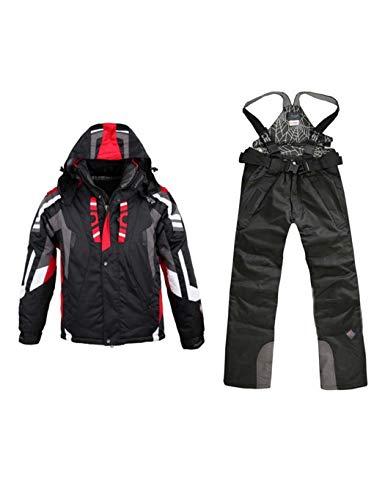 cokil Herren Skianzug Skijacke + Skihose Wasserdicht Winddicht verschleißfest Damen Ski Anzug Ski Jacke Unisex Weiß Rot blau Schwarz für Skifahren Wandern Klettern Camping Outdoor Sport