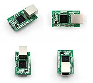 July Dual serial RS232 UART TTL port to Ethernet/TCP IP Module Converter with RJ45 port