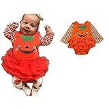 Snakell Neugeborenes Baby Mädchen Bekleidungsset Outfits Kürbis Halloween Kostüm Strampler Overall Tutu Kleid Mädchen Prinzessin Kleider Strampler Gedruckt Kleinkinder Outfits
