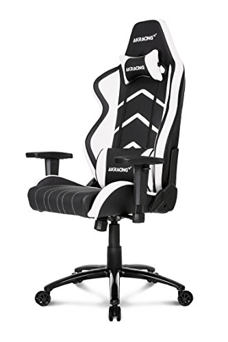 Akracing Player Gamer Fauteuil, Faux Cuir, Noir/Orange, 53 x 55 x 130 cm