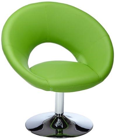 AMSTYLE Relaxsessel MALTA Loungesessel Bezug Kunstleder Farbe grün Cocktailsessel drehbar
