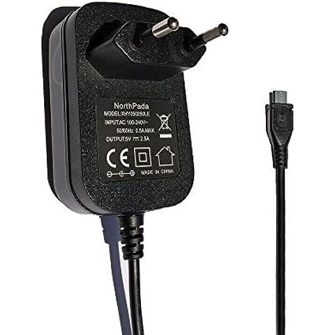 NorthPada CE Europa Cargador 5V 2.5A Micro USB para Raspberry Pi 3 / Raspberry Pi 2