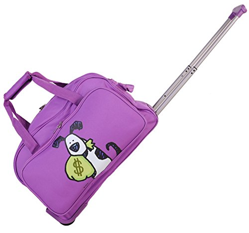 ed-heck-money-doggie-wheeled-duffel-20-inch-purple-one-size
