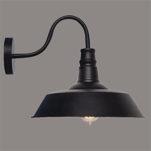 Yanlana Modern Led Wall Light Sconce Outdoor Indoor Wall Lamps For House, Bar, Restaurants, Coffee Shop, Club Decoration Retro Industrial Old Fashioned Way Light Bedroom Corridor Balcony Lid, Black Wire 3-way Light Switch