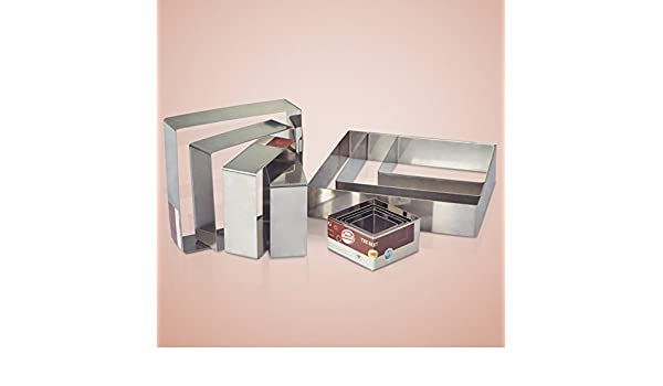 zantec Backen Werkzeuge quadratisch Edelstahl Ring Mousse Kuchen und Gebäck Formen Backformen
