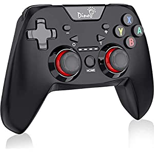 BEBONCOOL Switch Pro Controller kompatibel mit Nintendo Switch/Switch Lite, DinoFire Wireless Switch Controller 6-Achsen Somatosensory mit Dual Motors Turbo Gamepad Zubehörsets für Nintendo Switch