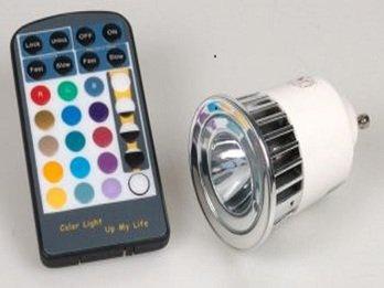 LED Power-Led-Reflektor, dimmbar mit einstellbarem Farbwechsel und Fb, 50 Lm