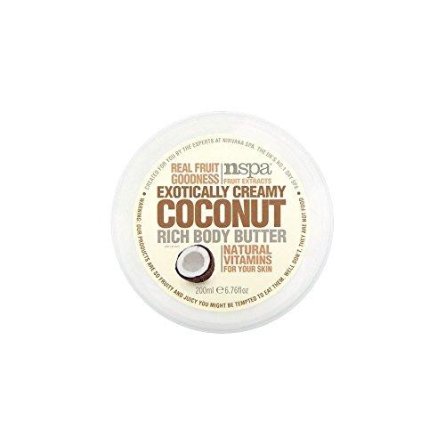 N-Spa Fruchtextrakte Exotisch Creamy Rich-Coconut Body Butter (200 ml) - Packung mit 2