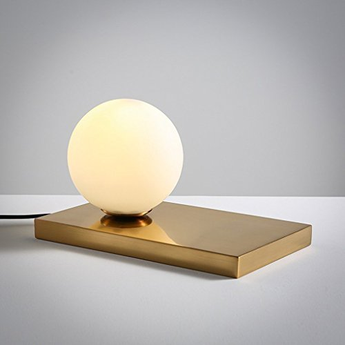 Nordic kreative Glas sphärische Mini Schreibtisch Lampe Schlafzimmer Nachttisch Mode warm romantischen Nachtlicht LED E14 weißen Lampenschirm -
