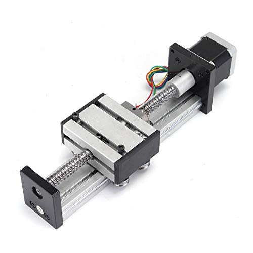ChaRLes 100Mm Long Stage Actuator Linear Stage 1204 Ball Screw Linear Slide Stroke Mit 42Mm Stepper Motor