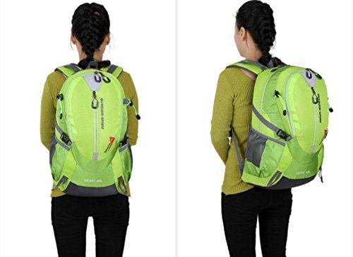 LQABW Freizeit Mode Wasserdicht Oxford Tuch Polyester Leichtes Wandern Berg Durable Rucksack Tasche Green