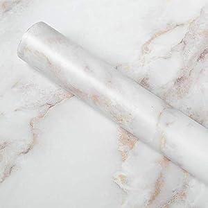 Homein Möbelfolie Marmor Folie Klebefolie Vinyl Selbstklebend Dekorfolie Fensteraufkleber PVC Aufkleber für Möbel Küche Küchenschrank Granit 90 x 200 cm