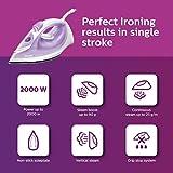 (Renewed) Philips EasySpeed GC1026/30 2000-Watt Soleplate Steam Iron (Purple)