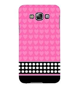 Pink Pattern 3D Hard Polycarbonate Designer Back Case Cover for Samsung Galaxy E5 :: Samsung Galaxy E5 E500F (2015)