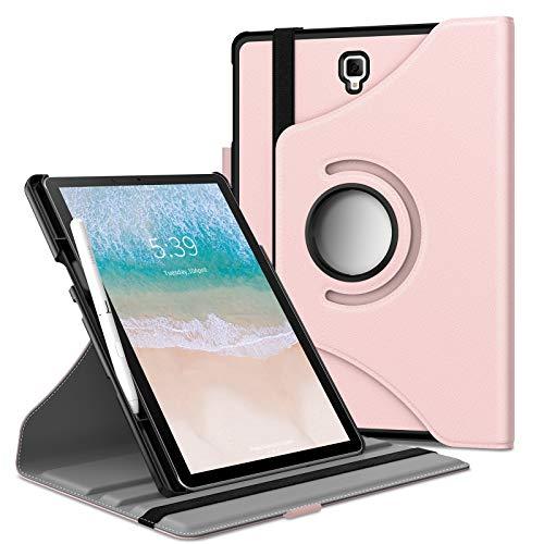 Infiland Samsung Galaxy Tab S4 10.5 Hülle mit S Pen Halter, Rotating Superleicht Schutzhülle für Galaxy Tab S4 10.5 (SM-T830/T835)(mit Auto Schlaf/Wach Funktion, Nicht enthalten S Pen),Rosa Goldene