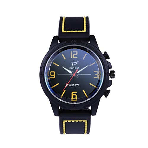 Yallylunn Zhou Lianfa Man Watch Leban Winner Quarter-Show Wild Temperament Student Fitness Unisex Wasserfest Gummi Uhrenarmband Edelstahl Schnalle Confortable and Flexible