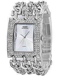 sheli grosse montre femme argent diamants quartz get promotion codes amazon. Black Bedroom Furniture Sets. Home Design Ideas