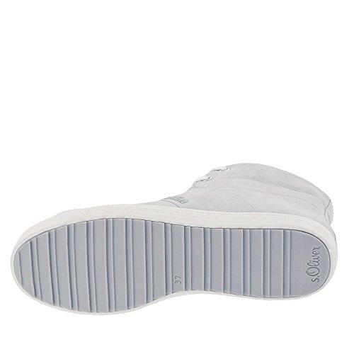 s.Oliver Damenschuhe 5-5-25208-28 Modischer Damen Freizeitschuh, Sneaker, sportlicher Schnürhalbschuh mit umklappbaren Kragen Lt Grey