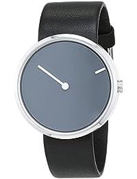 Jacob Jensen Herren-Armbanduhr Analog Quarz Leder 32251